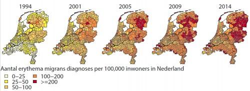 verspreiding teek in Nederland